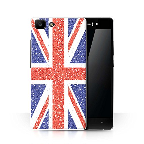 Hülle Für Oppo R5 Glitter Muster Effekt Union Jack Flagge/Briten Design Transparent Ultra Dünn Klar Hart Schutz Handyhülle Case