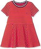 Tommy Hilfiger Stripe Knit Skater Dress Vestido, Rojo (Virtual Pink/Russet...