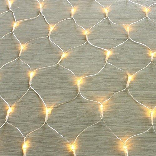 100/160er LED Lichternetz Lichtervorhang Lichterkette Warmweiß Deko Leuchte Innen und Außen Weihnachten Hochzeit mit Stecker gresonic (Dauerlicht, 100LED)