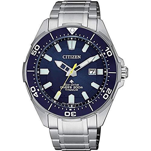 Citizen Promaster Diver 200mt Eco Drive Super Titanio BN0201–88L, reloj de pulsera para hombre