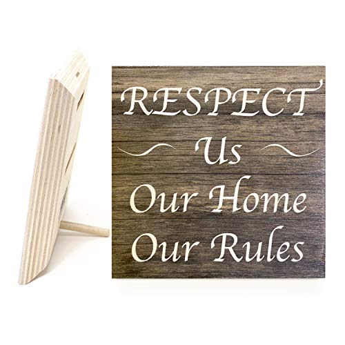 JennyGems | Respect Us Our House Our Rules | Rules Sign for Rental Properties | Vacation Home Signs | Visitors Signs | Made in USA