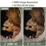GRM 20MP Wildlife Camera Trail Camera 4K Game Camera, Trail Game Camera with Night Vision Waterproof Security Camera 0.2s Trigger Time Motion Activated Support 256G TF Card (Not Included)