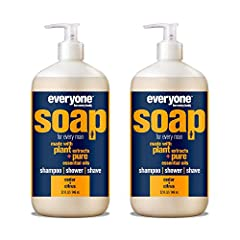 Contains 2 - 32 Fl Oz bottles The woody aroma of cedar is given a burst of freshness with citrus pure essential oil in this skin-nourishing soap that works great as a body wash, shampoo, and bubble bath Made with gentle coconut cleansers, organic pla...