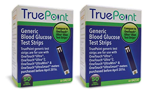 True Point Generic Test Strips 100 Count for Use with One Touch Ultra,...
