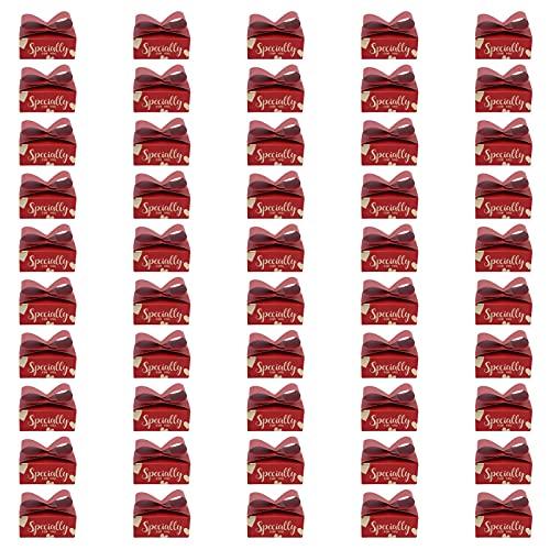 RANNYY Caja de Dulces de Boda, 50 Piezas Caja de Regalo de Boda Estilo Chino Caja de Dulces de Boda Gruesa Duradera Exquisita para Banquete de Boda