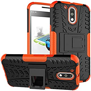 Yhuisen Moto G4/G4 Plus Case,New Dual Layer Hybrid Armor Case Detachable [Kickstand] 2 In 1 Shockproof Tough Rugged Case C...