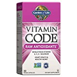 Garden of Life Antioxidant - Vitamin Code Raw Whole Food Vitamin Supplement with Probiotic and Enzyme Blend, Vegan, 30 Capsules *Packaging May Vary*