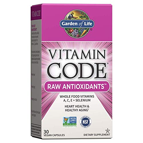 Garden of Life Antioxidant  Vitamin Code Raw Whole Food Vitamin Supplement with Probiotic and Enzyme Blend Vegan 30 Capsules *Packaging May Vary*