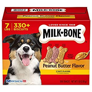 Milk-Bone Peanut Butter Flavor Dog Treats for Dogs of All Sizes