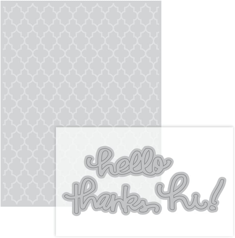 Moroccan Embossing Folder Dies By Hello Now free shipping Thank Recollections - Mesa Mall