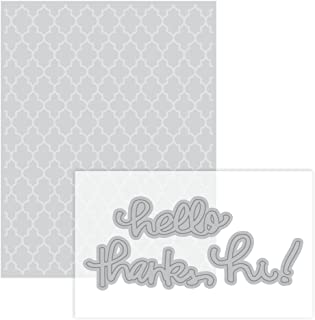 Moroccan Embossing Folder & Dies By Recollections - Hello, Thanks, Hi !
