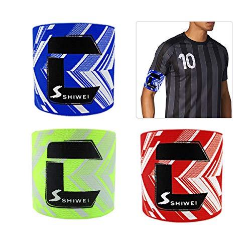 AUVSTAR Fußball Kapitänsbinde Fußball Captain Armband Junior Gummizug Futbol Captain Bands für Erwachsene, Klettverschluss für Verstellbare Größe, geeignet für Mehrere Ball Games Sport.