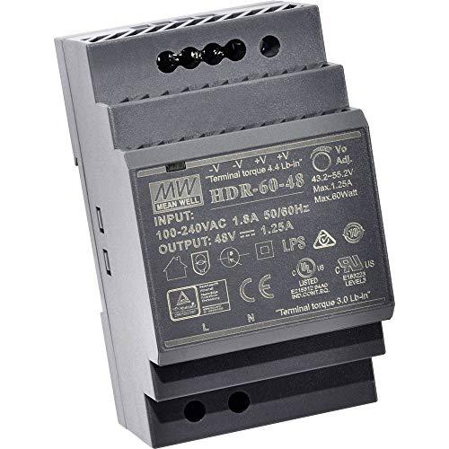 Mean Well HDR-60-5 Hutschienen-Netzteil (DIN-Rail) 5 V/DC 6.5A 32.5W 1 x