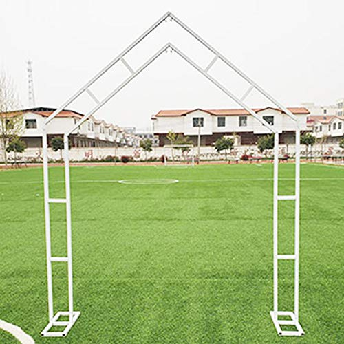 LBSY Wedding Arch Backdrop, 200 * 250cm, Pentagonal Wedding Arch Stand, Wedding Geometry Shelf Decoration, for Birthday Party, Mall Activities,White/Gold