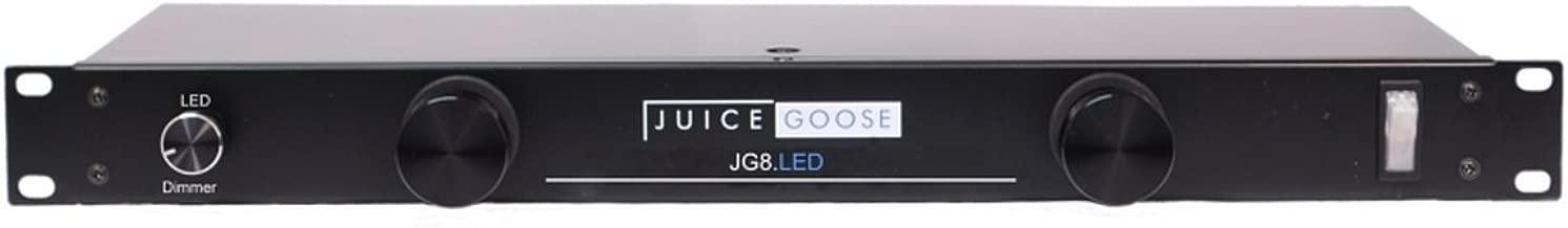 Juice Goose JG 8LED Rack Mount Power Distributor with LED Rack Lights 15 Amp 8 Outlets
