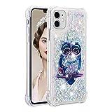 Funda Glitter Liquida para iPhone 8 Plus,Cristal Suave Silicona Bumper Protector Carcasa,Brillante Arena Movediza Case para iPhone 6s Plus / 6 Plus / 7 Plus / 8 Plus Eule YB