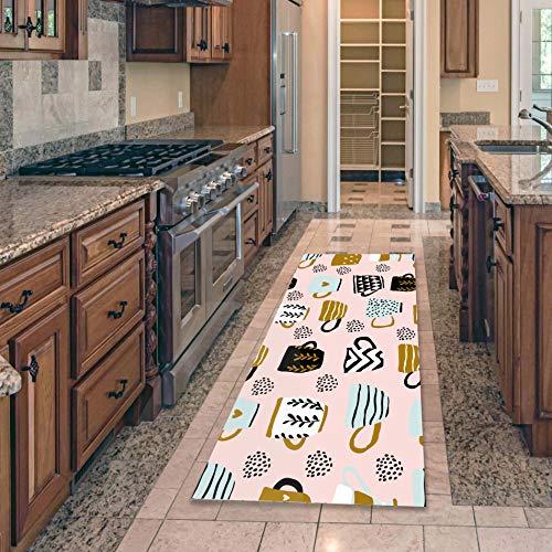 HLXX Alfombra de Cocina Alfombra Vajilla Fruta Alfombra de Piso para el hogar Alfombras Alfombras de Entrada para Puertas Alfombras y alfombras para el hogar Sala de Estar A2 50x80cm
