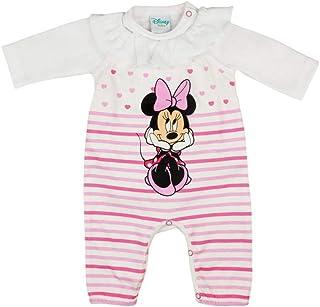 7025f92da3 Baby Mädchen Minnie Mouse Strampler Set mit Rüschen bestehend aus Langarm  Body und ärmelloser Strampler 56 62 68 74 Weiß oder Rosa von Disney sehr  hübsch ...