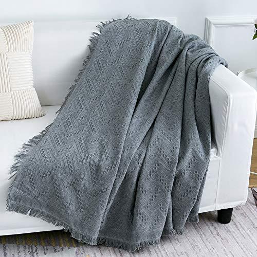 LHGOGO Multifunktionales Sofa Überwurf Tagesdecke Wohndecke Sofadecke Größe 3 Sitze 180 x 300cm Grau