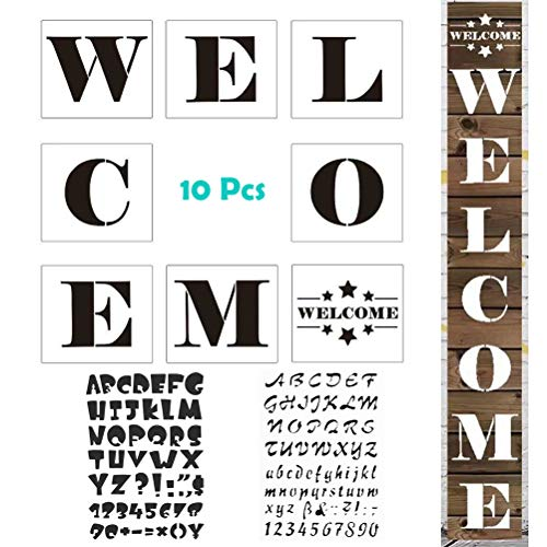 MX-Amigo 10 PCS/Set:Large Hotel Welcome Sign Stencils
