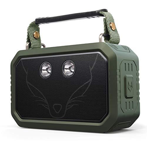 Altavoz Bluetooth, DOSS Traveler Altavoces inalámbricos Bluetooth con 20W Sonido estéreo y Graves audaces, IPX6, Emparejamiento inalámbrico, Tiempo de reproducción 12H, 5 Modos de luz