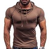 Correr Shirt Hombre Moderna Simplicidad Moda Color Sólido Ajuste...