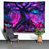 Ine Ive Colorful Psychedelic Tree Tapestry Fantasy World Tapestries Mysterious Element Wall Hanging Tapestry Dream Home Decoration Tapestry Elegant Art Tapestry 8060 in GTLTIE452