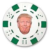 3 Donald Trump Funny Face Custom Green Poker Chips