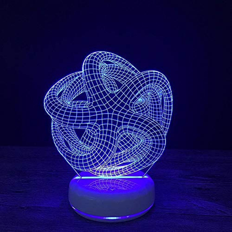 Tcaijing Nachtlicht LED Nachtlicht,Weihnachtszusammenfassung 3D buntes Fernsteuerungs-Noten-LED Nachtlicht
