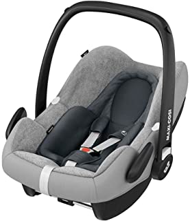 Maxi-Cosi Sommerbezug, passend für Maxi-Cosi Babyschalen Rock, Pebble Plus und Pebble Pro, Schonbezug für den Kinder Autositz, der ideale Bezug für die warmen Sommertage, fresh grey