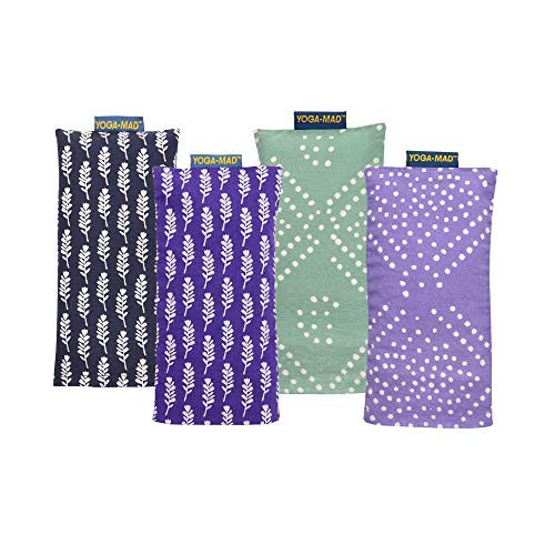 Yoga-Mad Patterned Yoga Eye Pillows Linseed & Lavender, Pastel Green Diamond