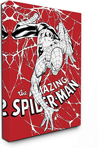 Aryago - Lienzo decorativo para pared, diseño de superhéroe de Spiderman (30,5 x 40,6 cm), diseño de Spiderman