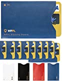 RFID Sleeves Credit Card Sleeve - Credit Card Protector Sleeves Blocks Credit Cards Transfer of Data Protecting Against Thieves Electronic Pickpocketing - RFID Credit Card Sleeves (Blue10) rfid card sleeves Jan, 2021
