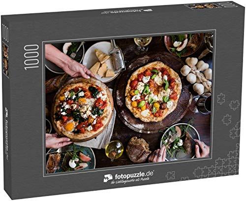 Puzzle 1000 Teile Servieren Einer Pizza Lebensmittel Fotografie Rezept Idee - Klassische Puzzle, edle Motiv-Schachtel, Fotopuzzle-Kollektion 'Essen' (1000, 200 oder 2000 Teile)