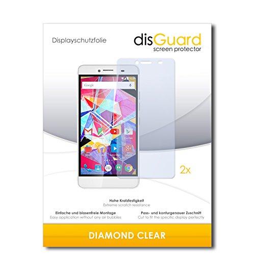 disGuard 2 x Bildschirmschutzfolie Archos Diamond Plus Schutzfolie Folie DiamondClear unsichtbar