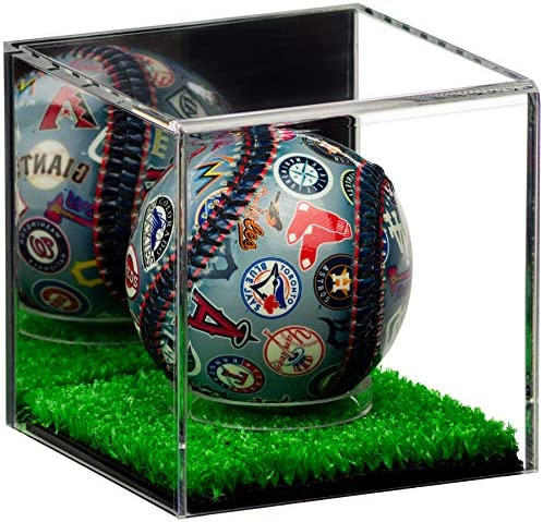 Better Display Cases Acrylic Baseball or Tennis Ball Display Case with Mirror and Turf Base product image