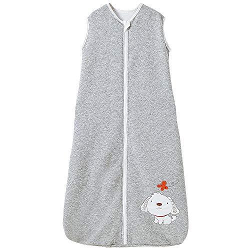 Babyschlafsack Winterchlafsack Baby mädchen Jungen Schlafanzug Kinder Winter Schlafsack süßer Hund 6-10 Jahre 2.5 Tog (6-10 Jahre, süßer Hund Grau)