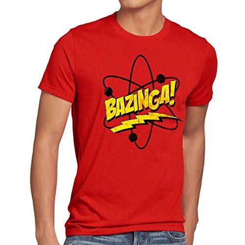 CottonCloud Sheldon Atomo T-Shirt da Uomo, Dimensione:M, Colore:Rosso