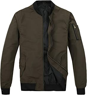 Men's Lightweight Bomber Jacket Slim Fit Softshell Windbreaker