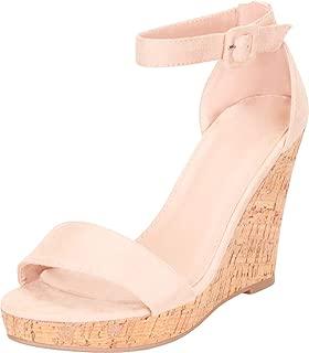 cork wedges heels