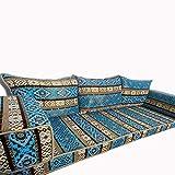 Spirit Home Interiors Dreisitzer-Bodensofa in Blauer Farbe