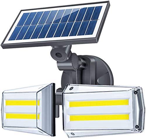 ソーラーライト センサーライト 2灯式 LEDライト 防犯 防水 充電式エコ 人感センサーライト