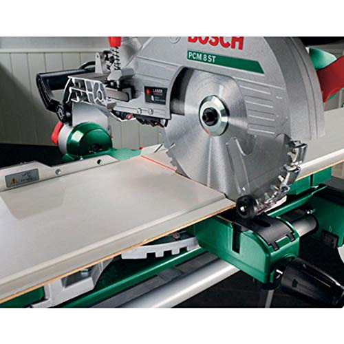 Bosch PCM 8 ST Kapp- und Gehrungssäge mit Zugfunktion, Untergestell, 4 x Seitenverlängerungen - 8