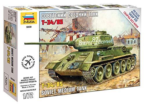 Zvezda 500785039 1: 72 – T-34/85 Soviética Tanque Medio Segunda Guerra Mundial