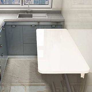 Tables de salle à manger Table pliante murale à abattant, bureaux rabattables flottants pour petits espaces Bureau Bureau ...
