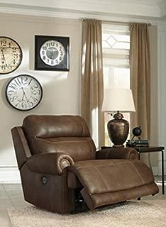 Ashley Furniture Signature Design Austere Power Oversized Recliner - Brown