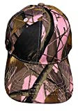 Black Duck Brand Camouflage Hat with Hardwood Pattern, 5 Colors to Choose from (Pink Camo)