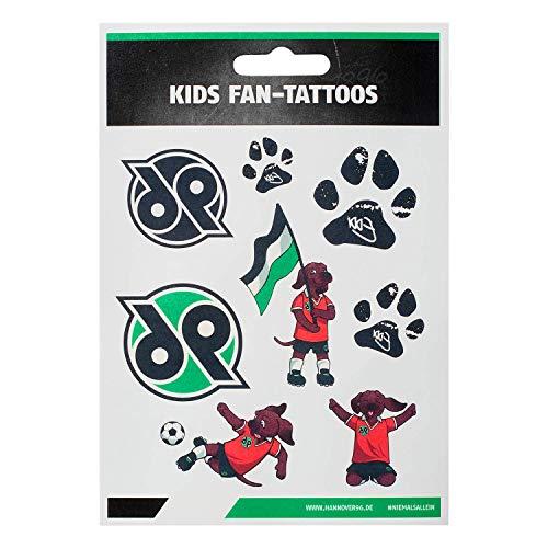 Hannover 96 Kids Fan-Tattoos, Gesichts Aufkleber, Tattoo, temporäre Tattoos H96 - Plus Lesezeichen I Love Hannover