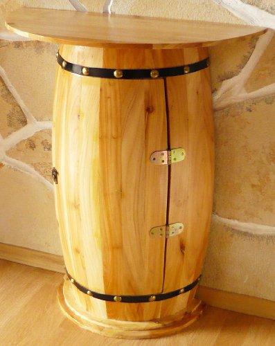 DanDiBo Wandtisch Tisch Weinfass 0373 Schrank Weinregal Fass aus Holz - 5