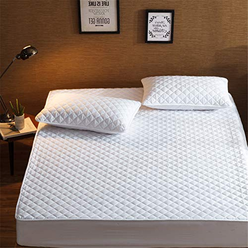 YCDZ Mattress Protective Cover, Anti-allergic, Breathable, Anti-bugs and Mites, No Odor, Suitable for All Bed Types (White,200x220cm)